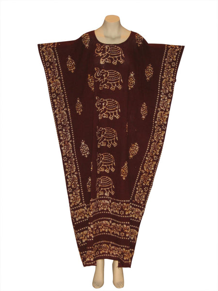 Egyptian Elephant Kaftan Caftan Dress : Maroon