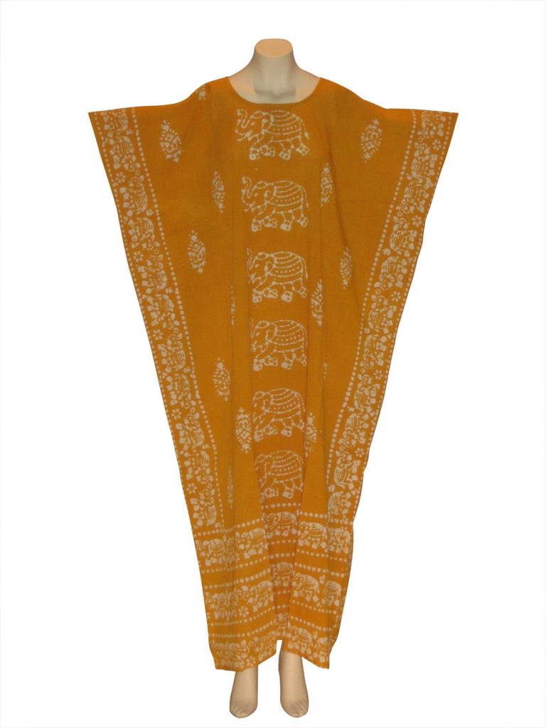 Egyptian Elephant Kaftan Caftan Dress : Gold
