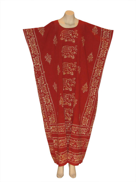 Egyptian Elephant Kaftan Caftan Dress : Red