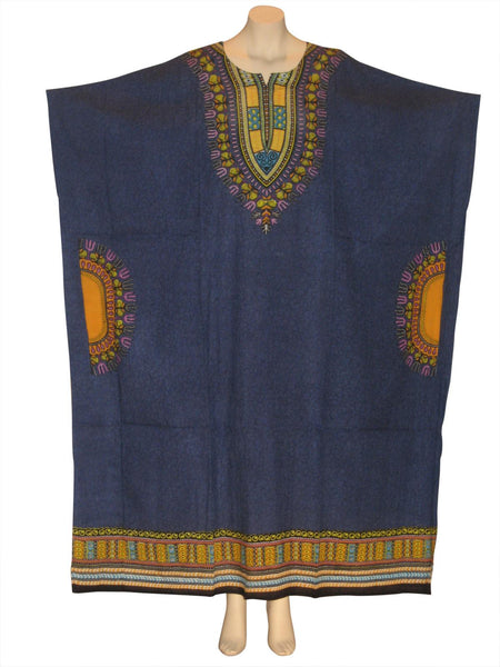 Traditional Print Kaftan Caftan Dress : Blue