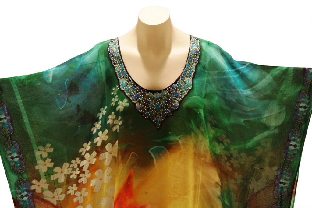 Sunrise Blossoms Digital Print Kaftan