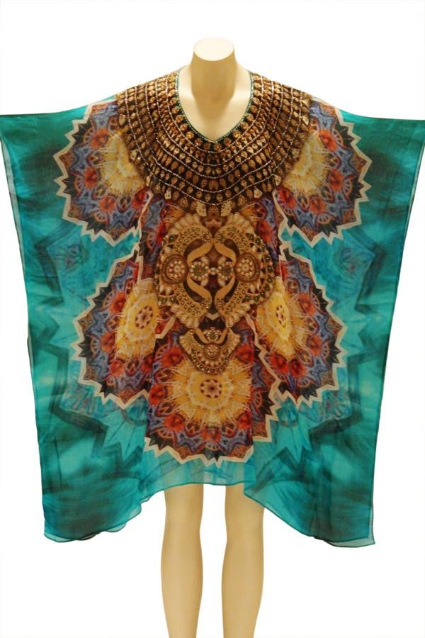 Starburst Digital Print Kaftan