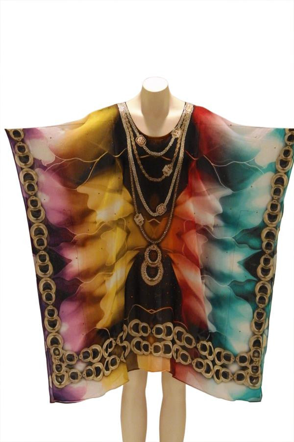Rainbow Digital Print Kaftan