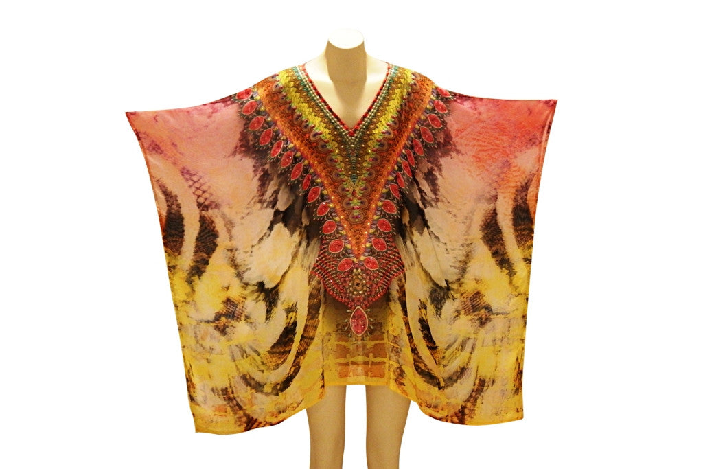Embellished Kaftan Digital Print Design KC-68