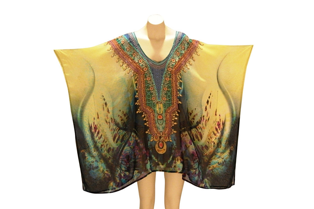 Embellished Kaftan Digital Print Design KC-63