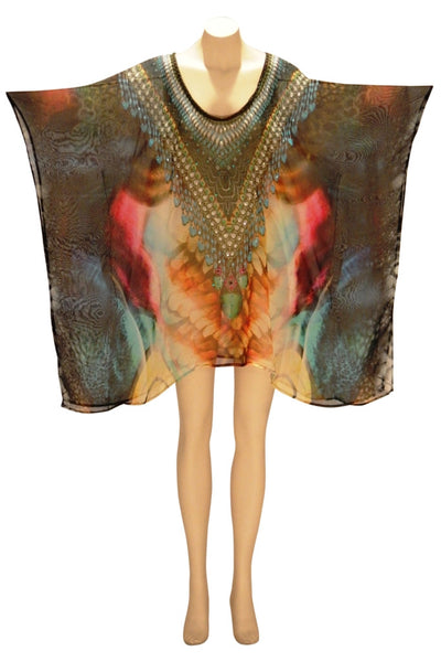 Embellished Kaftan Digital Print Design KC-69