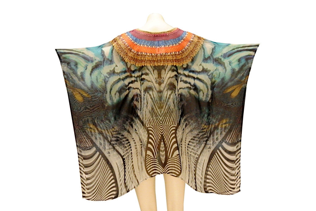 Embellished Kaftan Digital Print Design KC-55