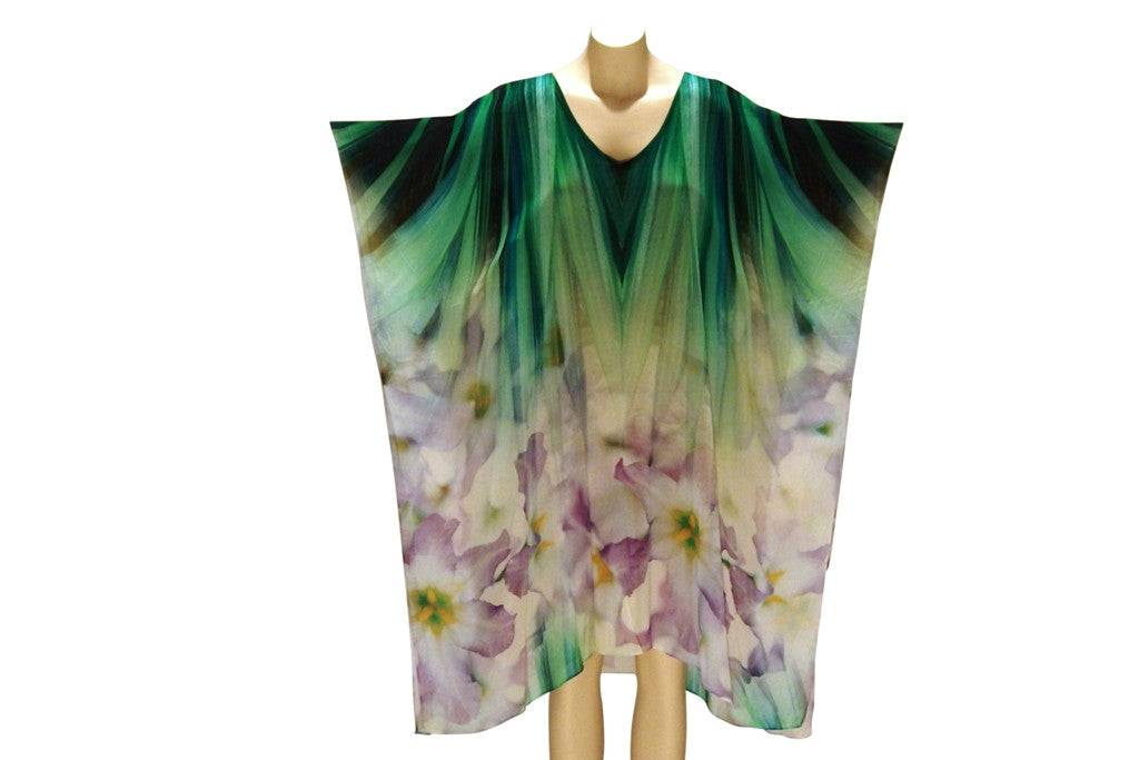 Lillies of the Green Fields Digital Print Kaftan
