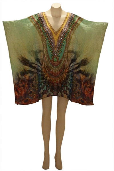 Embellished Kaftan Digital Print Design KC1059