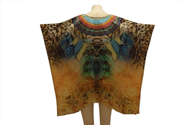Embellished Kaftan Digital Print Design KC1060