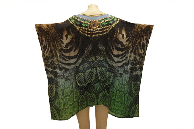 Embellished Kaftan Digital Print Design KC1048