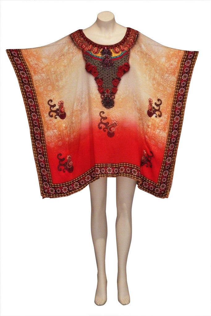 Embellished Kaftan Digital Print Design KC-SS68