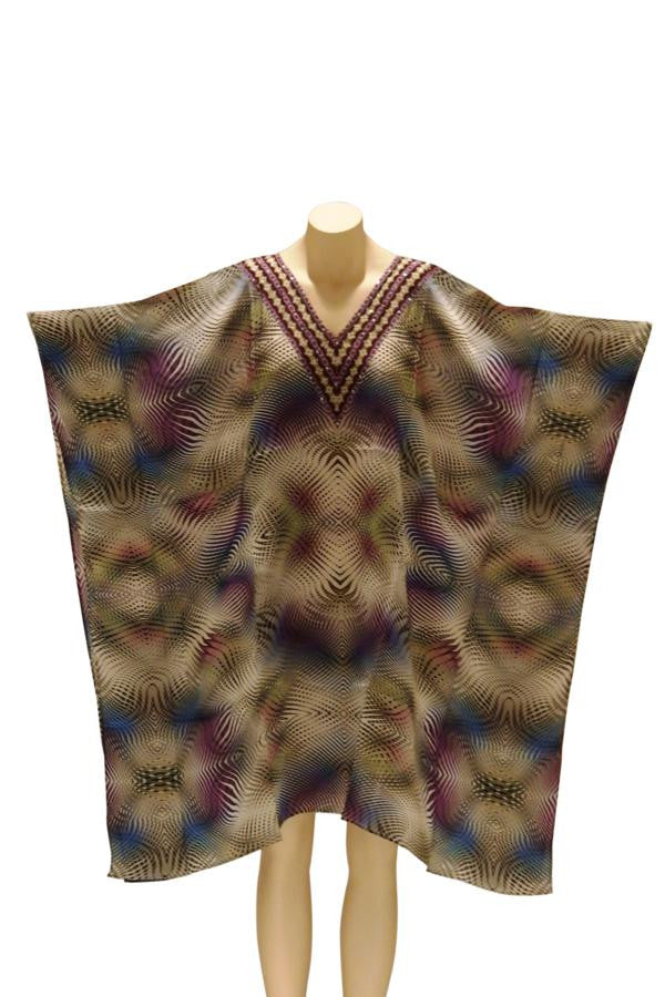 Mirage Embellished Digital Print Kaftan