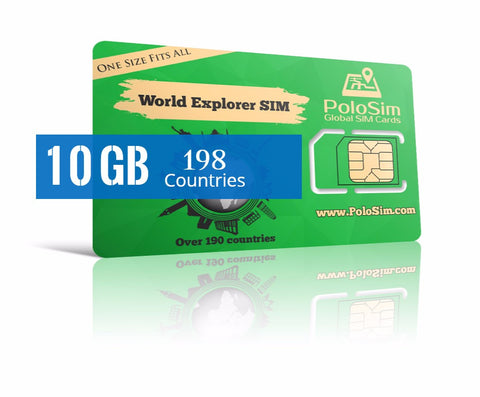 Business Traveler Premium 10 GB in over 190 Countries - PoloSim
