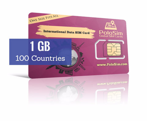 Global Data SIM - 1 GB in 100 Countries - PoloSim
