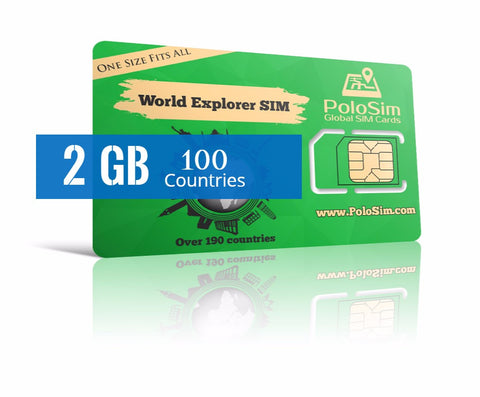 Global Data SIM - 2 GB in 100 Countries