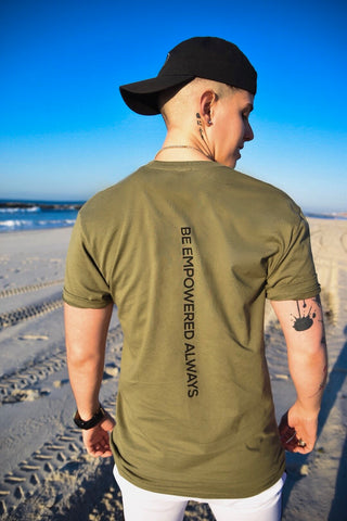 Be Empowered Always Tee-Olive Green