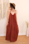 Rosie Dress - Rusty Red