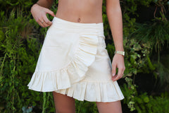Adorable Boho Two-Piece Set - Boho Chic, Boho Style, Crop Top + Wrap Skirt - Blonde Vagabond