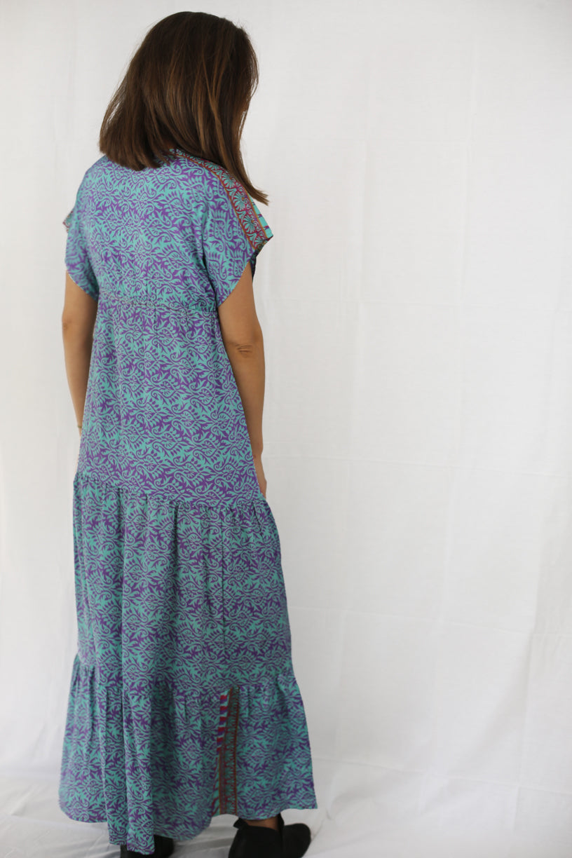 Boho Maxi Dress- Crystal Blue Persuasion
