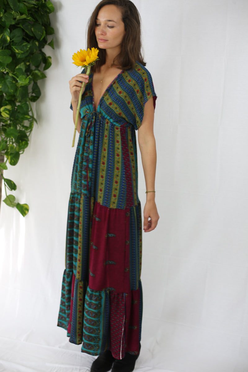 Boho Maxi Dress - Find Me with the Gypsies (One of a kind)