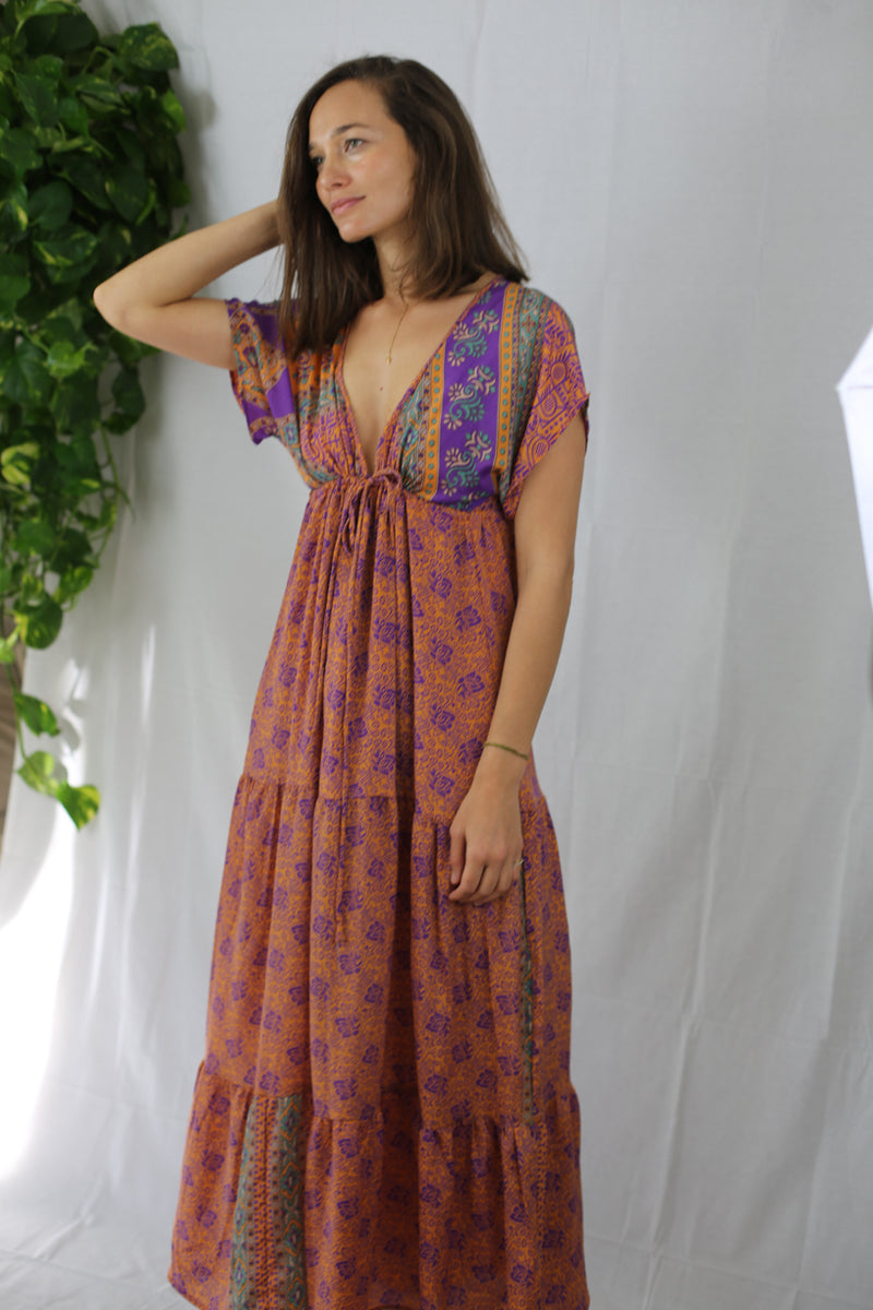 Boho Maxi Dress - Marigold (One of a kind)