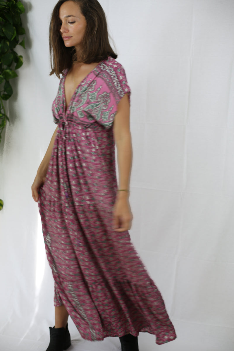Boho Maxi Dress - Pink Station (One of a kind)