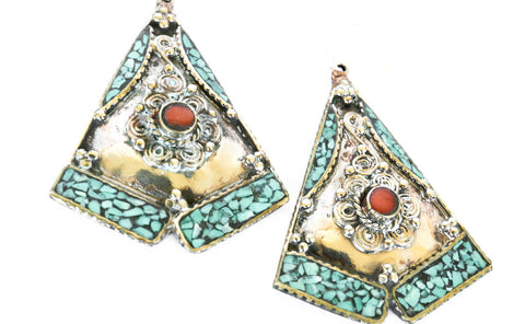 Tibetan Four Directions Earrings - Blonde Vagabond
