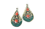 Ancient Sea Tibetan Earrings - Blonde Vagabond