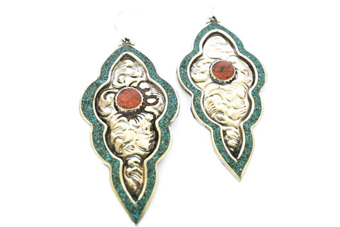 Tibetan Queen Earrings - Blonde Vagabond