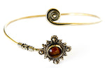 Nefertiti Brass Bracelet with Semi-Precious Stone - Blonde Vagabond