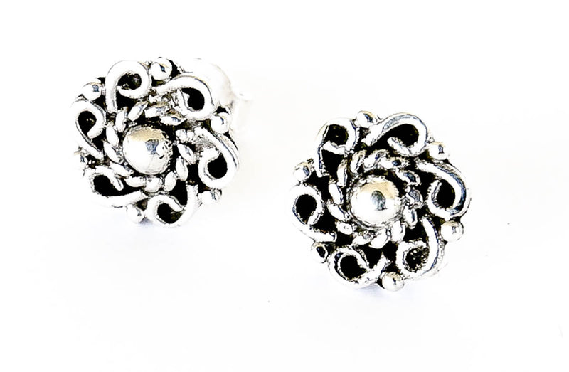 Silver Blessing Stud Earring - Blonde Vagabond