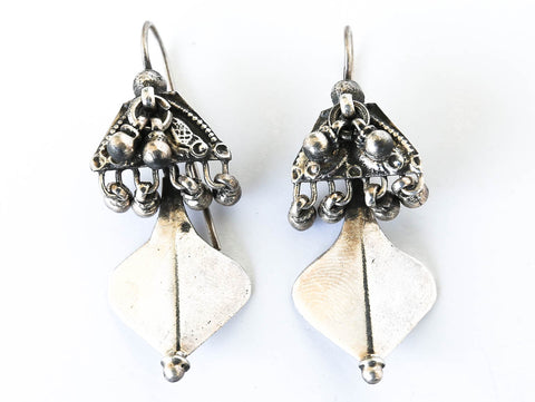 Bellydancer Kiss Silver Earrings - Blonde Vagabond