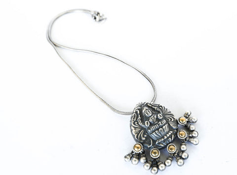 Kamala Sweetheart Boho Silver Necklace
