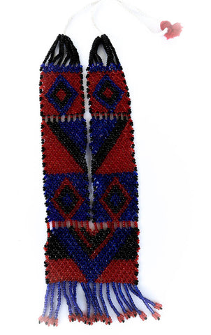 red black and blue tribal necklace