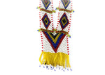 """Ajesca"" Handmade Beaded Tribal Necklace - Blonde Vagabond"