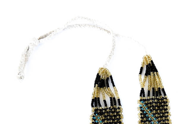 """Lariat"" Handmade Beaded Tribal Necklace - Blonde Vagabond"