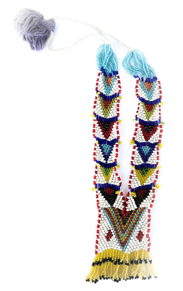 """Lorindra"" Handmade Beaded Tribal Necklace - Blonde Vagabond"