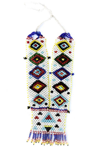tribal beaded necklace with eyes