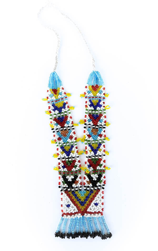 """Moriya"" Handmade Beaded Tribal Necklace - Blonde Vagabond"