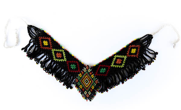 black tribal necklace collar indigneous