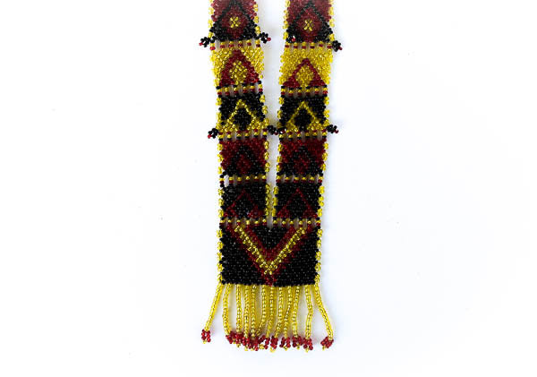 """Torika"" Handmade Beaded Tribal Necklace - Blonde Vagabond"