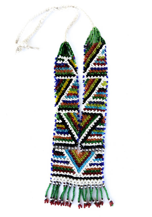 """Anat"" Handmade Beaded Tribal Necklace - Blonde Vagabond"