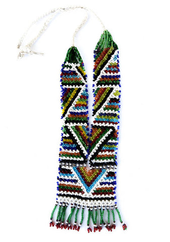 colorful beaded tribal necklace
