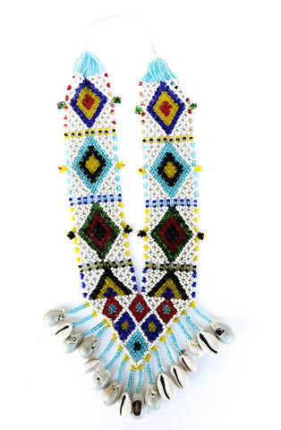 """Jarika"" Handmade Beaded Tribal Necklace"