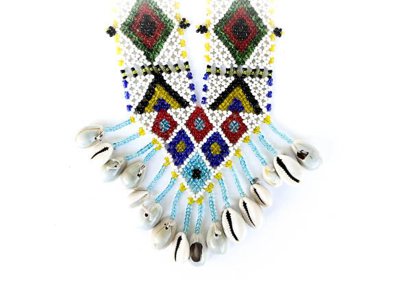 """Jaya"" Handmade Beaded Tribal Necklace - Blonde Vagabond"