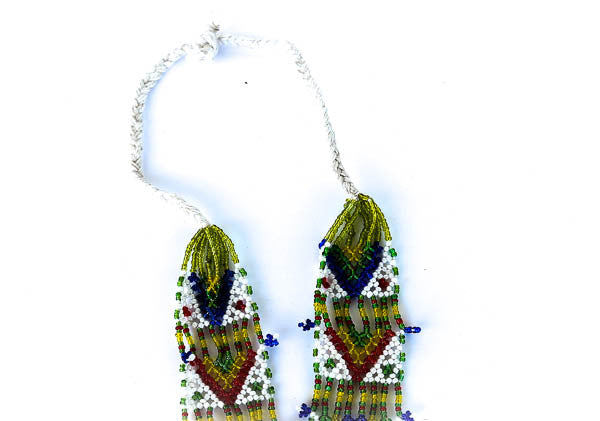 """Turiya"" Handmade Beaded Tribal Necklace - Blonde Vagabond"
