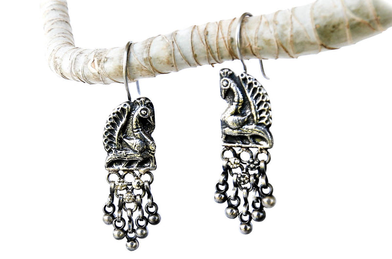 Peacock Kiss Boho Earrings - Blonde Vagabond