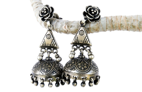 Ancient Sea Tibetan Earrings