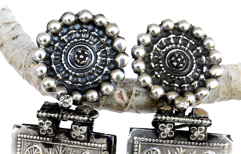 Vintage Gypsy Faire Silver Earrings - Blonde Vagabond